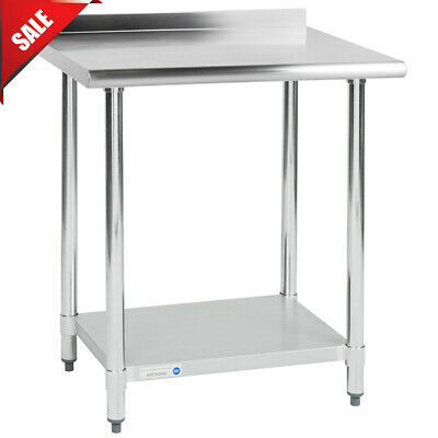 New 24 X 30 Stainless Steel Work Prep Table Undershelf Restaurant Backsplash