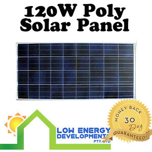 New 120 Watt 12v Polycrystalline Solar Panel 120W Premium Quality 6