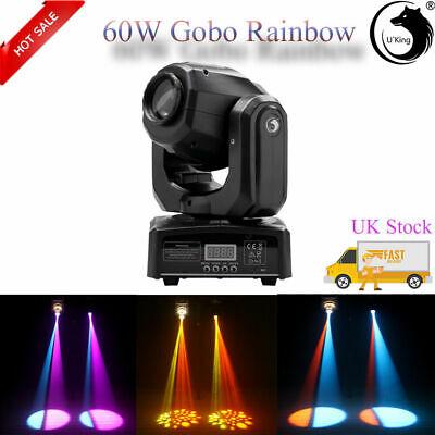 60W RGBW Spot LED Moving Head Gobos Stage Light DMX512 Disco DJ Party Lighting