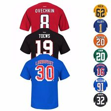 NHL Team Player Name & Number Jersey T-Shirt Collection by REEBOK - Men