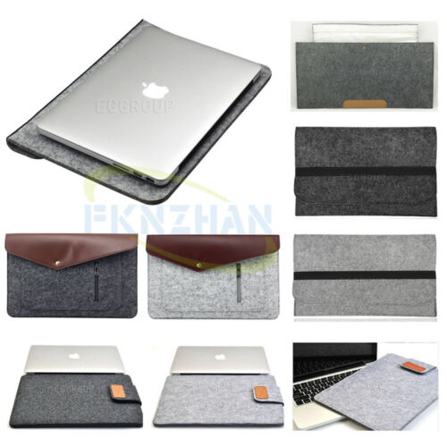 Wool Felt Soft Envelope NoteBook Bag Sleeve Pouch Case Cover For 14 inch Laptop