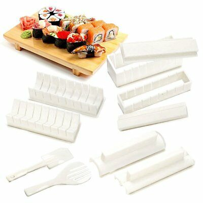 10PCS Sushi Maker Kit Riso Roll Stampo Cucina Fai Da Te Comodo Chef Set Roller