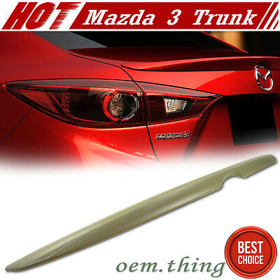 """IN STOCK LA Unpaint Mazda 3 3rd 4D Sedan OE Style Rear Trunk Spoiler ABS 14-16"