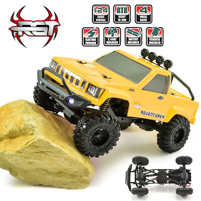 Rc Crawlers Rtr 1 24 Scale 4Wd Off Road Monster Truck Rock Crawler 4X4 Mini Rc