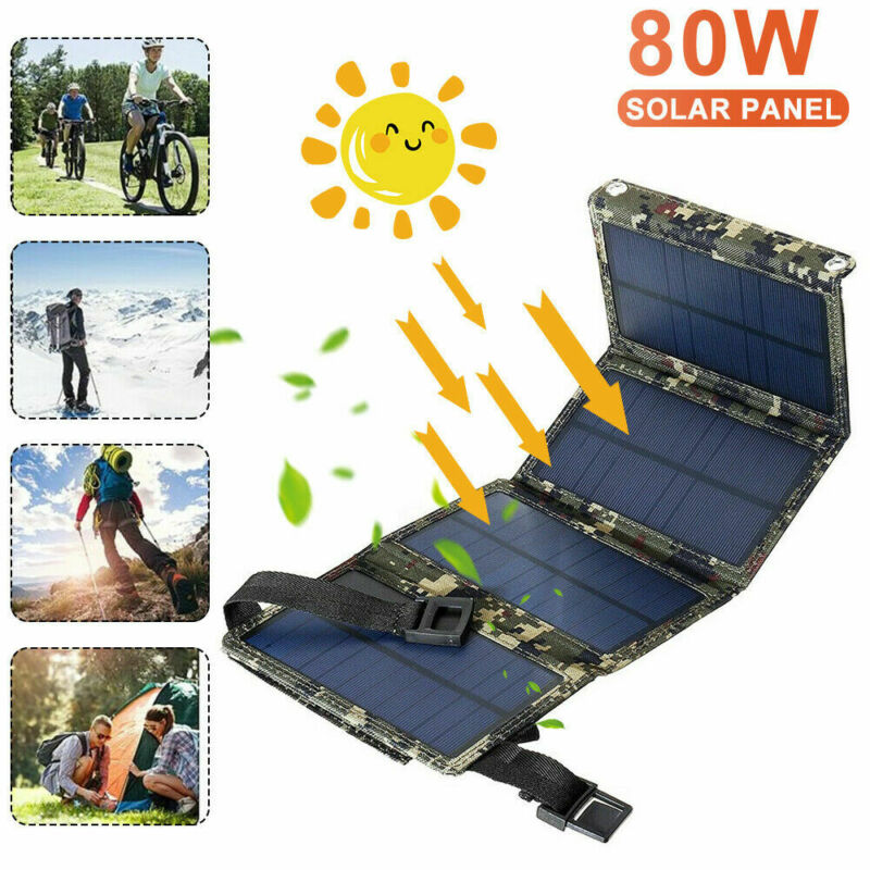 Solar Panel Portable Solar Generator Power Station USB Camping Charger Foldable