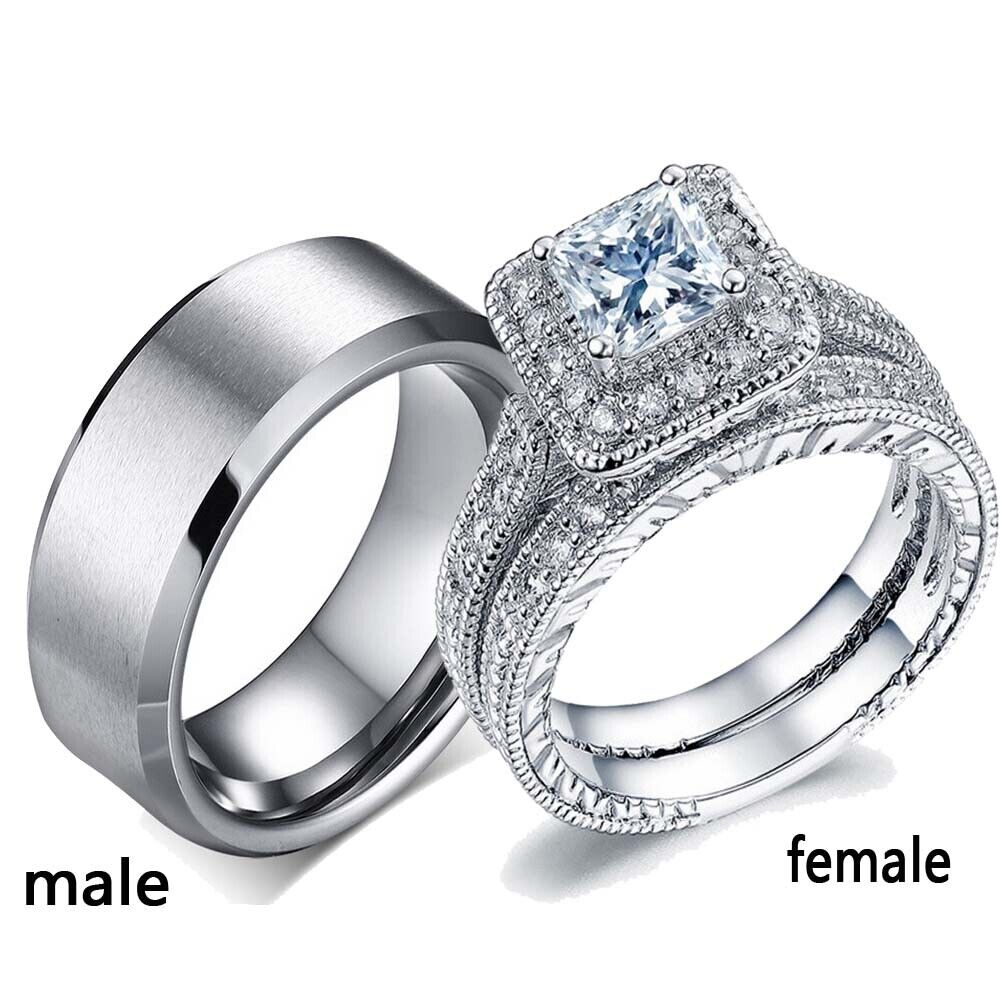 2 rings couple rings 316l stainless steel