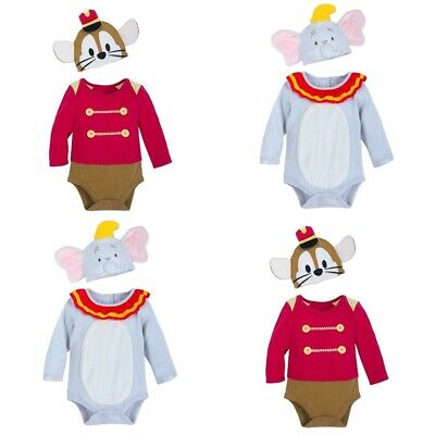 Disney Store Dumbo Timothy Mouse Baby Bodysuit Hat Costume Dress Up Halloween - Baby Dumbo Kostüm