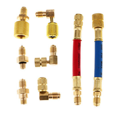 A/C Air Conditioner Refrigeration R134A R12 Charging Manifold Adapter Hose Set R134a Charging Hose