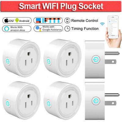 WIFI Smart Plug Voice Control Socket Outlet Works with Amazon Alexa Google 1PC