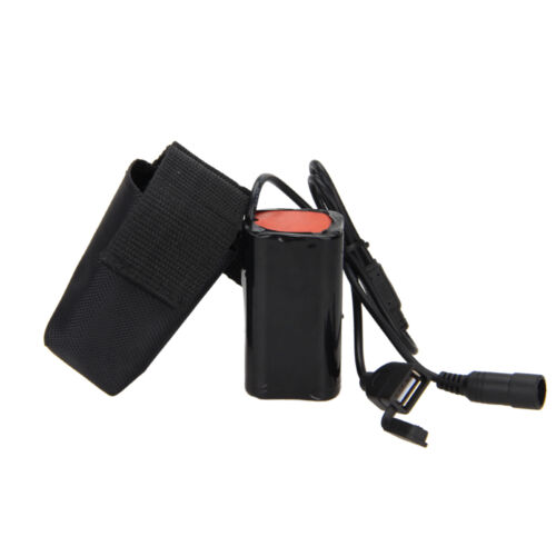 8.4V USB Rechargeable 4x18650 Battery Pack For Bicycle Light Bike Torch bC