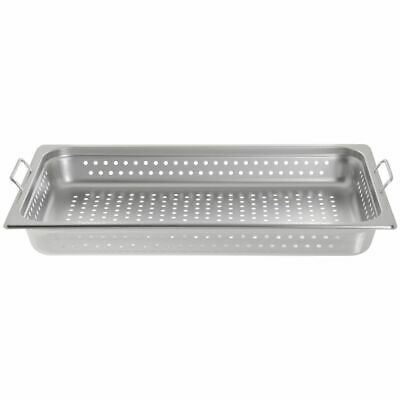 Hubert Steam Table Pan Full Size Perforatedwhandles22 Gauge Ss-2 12 D X21l