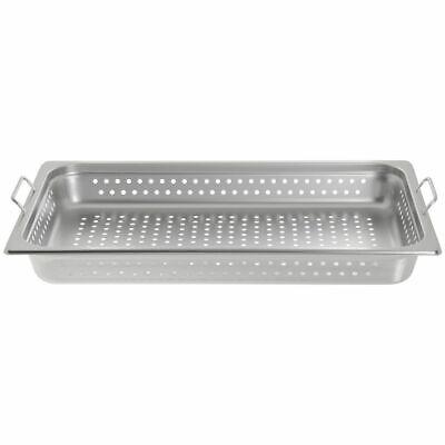 Hubert Steam Table Pan Full Size Perforatedwhandles22 Gauge Ss-2 12 D X21l