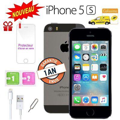 Neuf Apple iPhone 5s 16go 16GB unlocked DÉBLOQUÉ Téléphones Mobile Gris Grey FR