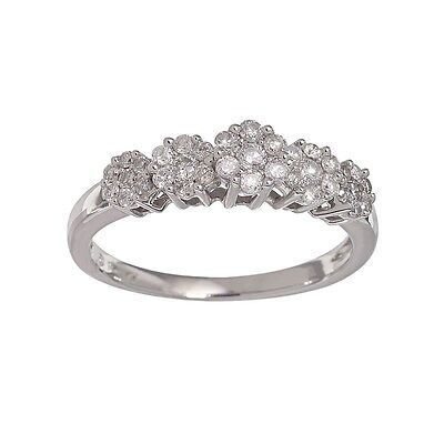 Ladies Anniversary Ring Band 14K White Gold and Diamond with Box and Certificate