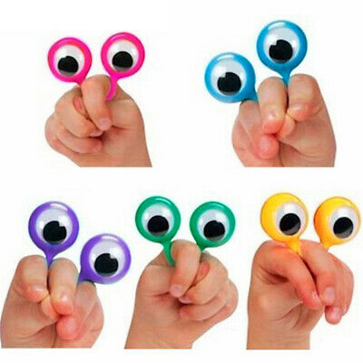 Lot of 24Pcs Finger Wiggly EYE Puppet Ring Clown Child Adult Toy Games Decor - Diy Puppets