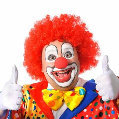 Rote Clown Perücke -Deluxe-  Crazy Clown Universalgröße  (Crazy Clown)