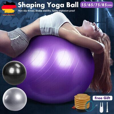 Gymnastikball Sitzball Fitness Yoga Pilates Sportball Ball 55 65 75 85cm + Pumpe