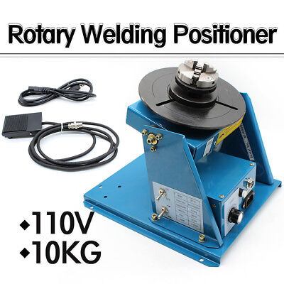 110v Rotary Welding Positioner Turntable Table 2.5 3 Jaw Lathe Chuck 2-10rpm Us