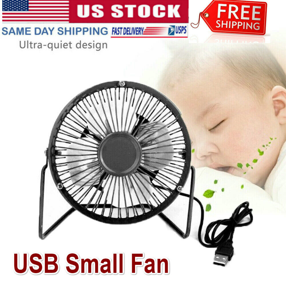 Desk Table Fan Personal USB Small Air Circulator Quiet Dorm