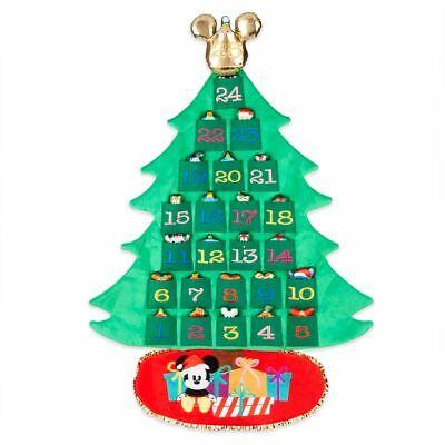 NEW! Mickey & Friends Plush Advent Calendar Wall Hanging Christmas 25 Toys