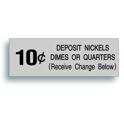 Vending Machine 10 Cent Decal Sticker Fits Vendo Soda Pop Soft Drink Coin Slot