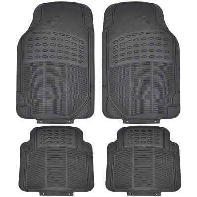 4 X Heavy Duty Waterproof Rubber Car Mats Set Non-Slip Grip Floor Black Mat Uber