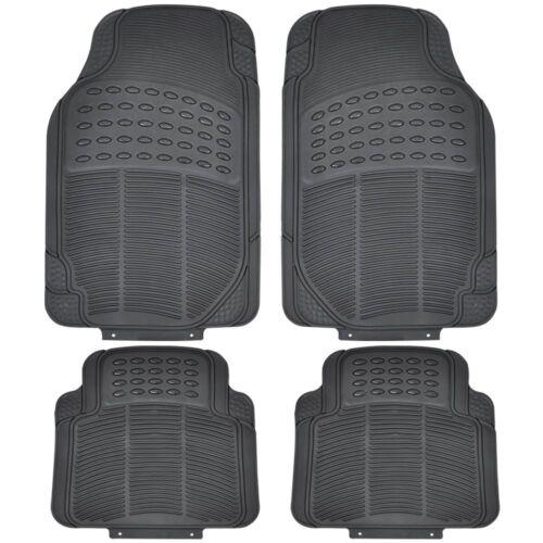 Car Parts - 4 X Heavy Duty Waterproof Rubber Car Mats Set Non-Slip Grip Floor Black Mat Uber