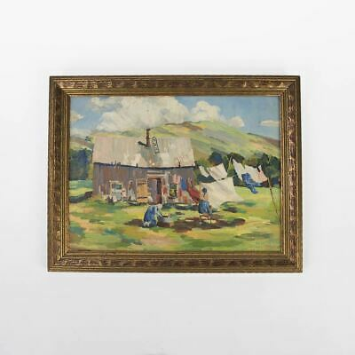Windy Monday - An Original 1930 Hand Oil Painting By Charles Eames