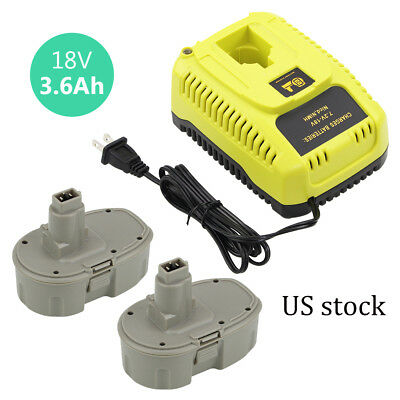 2xDC9096 DC9099 for Dewalt 18v XRP Battery 3600mAh+1 7.2v to 18v DC9310 Charger