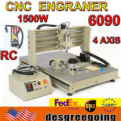 Usb Cnc 6090 4axis 1.5kw Engraving Machine Metal Milling Router Controller Rc