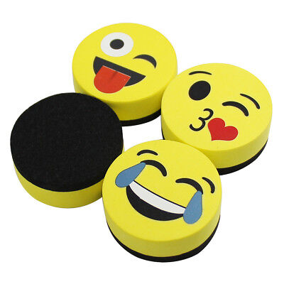 Magnetic Whiteboard Eraser Smiley Marker Erase Dry Erase Erasers 4 Pack Of 2