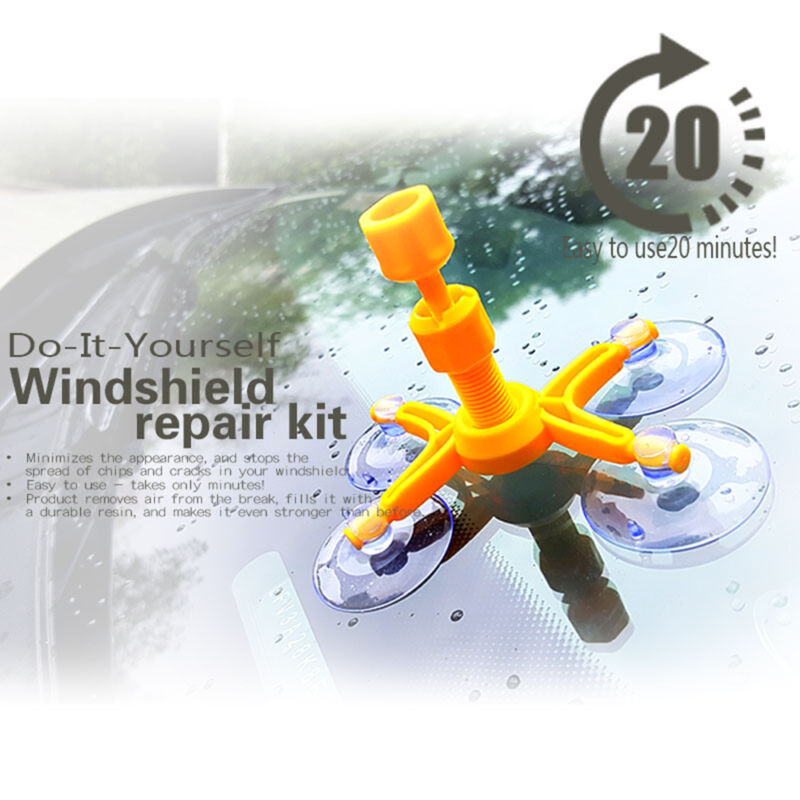 Windscreen windshield repair tool diy car auto kit glass for chip directions for use solutioingenieria Gallery