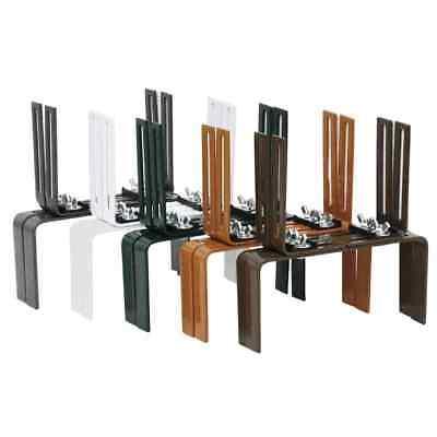 Blumenkastenhalter Balkonkastenhalter H-Form mehrere Farben montiert