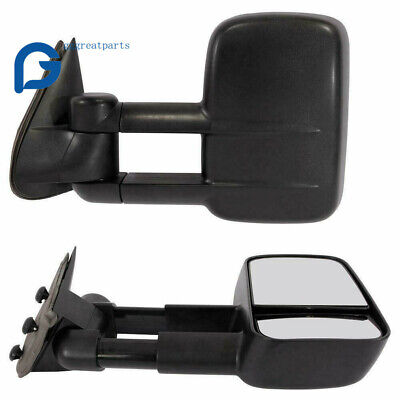 Manual Tow Side Mirrors for 99-06 Chevy Silverado GMC Sierra NBS 1500/2500/3500 Manual Extending Tow Mirrors