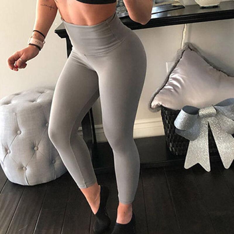 fe0ee6967 Women PUSH UP Yoga Leggings Pants Fitness High Waist Sport Jogging ...