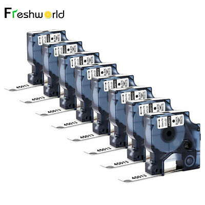 8pk Compatible Dymo D1 45013 12mm S0720530 Label Tape Labelmanager Label Maker