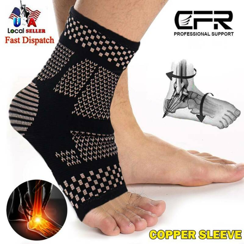 COPPER Ankle Compression Socks Arch Running Support Plantar