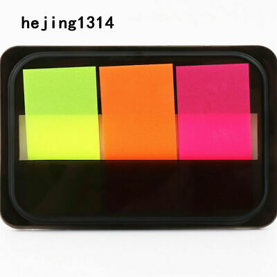 220 Pc Unbranded Memo Tabs-sticky Notes-self Adhesive-padpaper-asst Colors-read