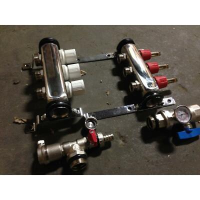 Zurn Qhpm-3s 3 Port Accuflow Preassembled Radiant Heating Manifold