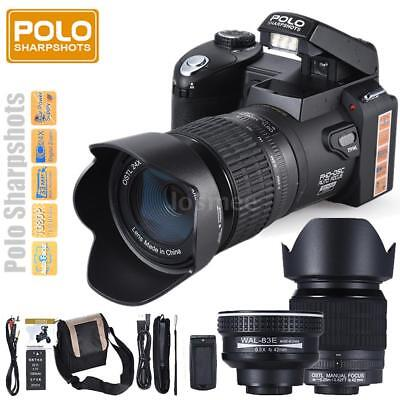 POLO D7100 HD 33MP Digital Camera Video Camcorder with Wide Angel Telephoto Lens