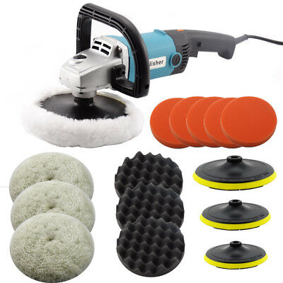 """Electric Car Polisher Buffier Sander Waxer Kit Variable 6-Speed 7"""" 1400w"""