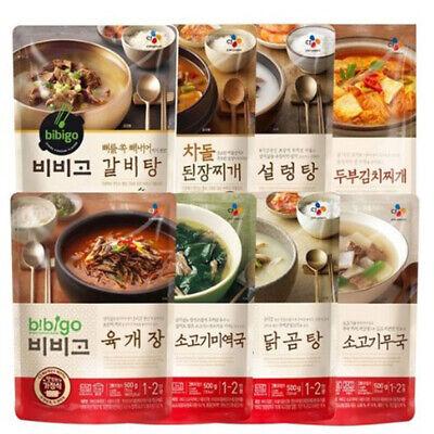[ 8 Packs ] CJ Bibigo Korean Instant Soup Stew Set 500g