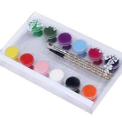 12 Colors Painting Acrylic 3D Nail Art Paint Tube Draw Nail Art Tip UV Gel sy
