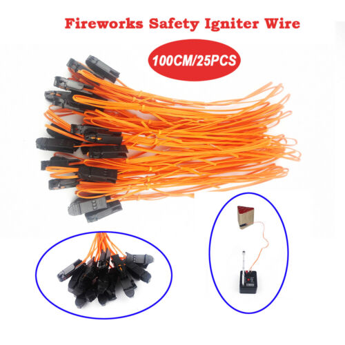 25 pcs 1M safety Igniter E Match Wire for Fireworks Firing System electric wire