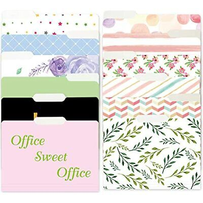 12 Decorative File Folders Watercolor Floral Colored Letter Size For Office Gift