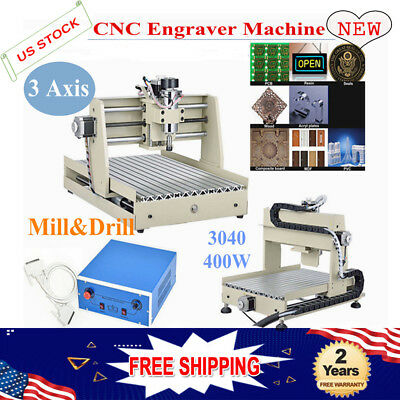 3 Axis Cnc 3040 Router Engraving Machine 400w Spindle Motor Wood Diy 3d Cutter