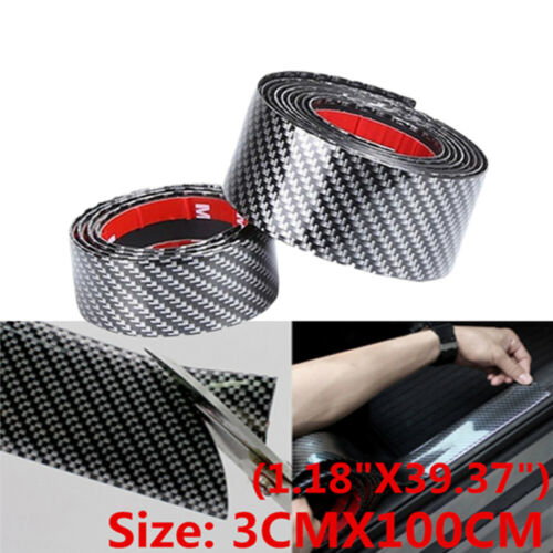 Car Parts - 5D Car Sticker Carbon Fiber Molding Door Sill Rubber Protector Parts Accessories
