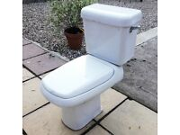 Close-coupled standard toilet pan & cistern tank
