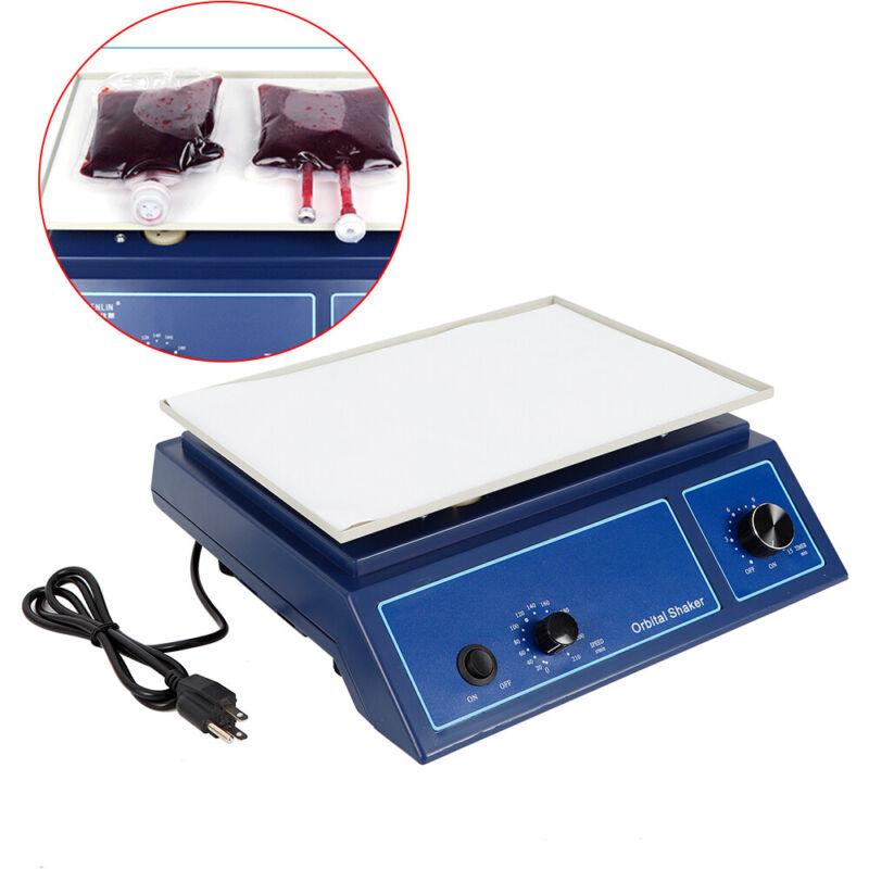 Lab Orbital Shaker Rotator Oscillator 0-210 RPM Platform Variable Speed Mixer US