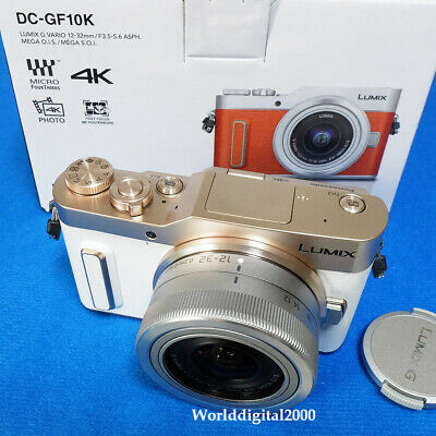 Panasonic DC-GF10 Body(White)+12-32mm(Silver) 4K Record  DMC-GF10  8 Languages